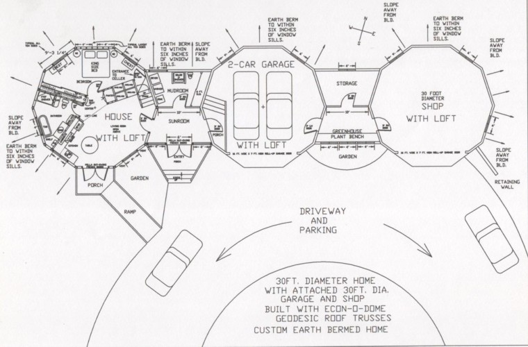 Dome Home Floorplans
