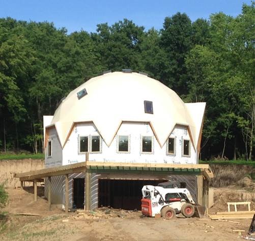 Dome Home Building Kits: Dome Home Building Photo In New York, Dome Assembly Photo