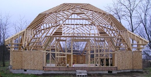 is a dome home kit with larger and fewer triangles due to necessary extensions at the perimeter for doors and windows the faze 3 dome frame